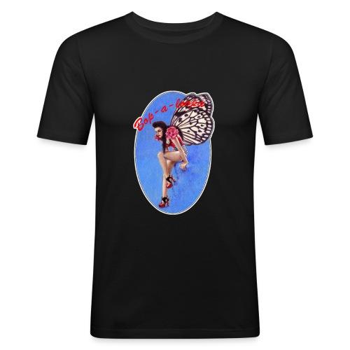 Vintage Rockabilly Butterfly Pin-up Design - Men's Slim Fit T-Shirt