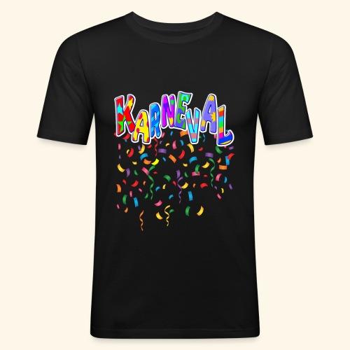 Karneval & Fasching Spaß Alt und Jung Party Shirt - Männer Slim Fit T-Shirt