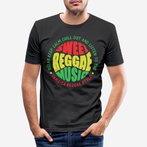relax chill reggae music jamaica - Männer Slim Fit T-Shirt