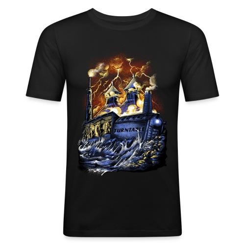 Whisky Turntable Distillery - Männer Slim Fit T-Shirt