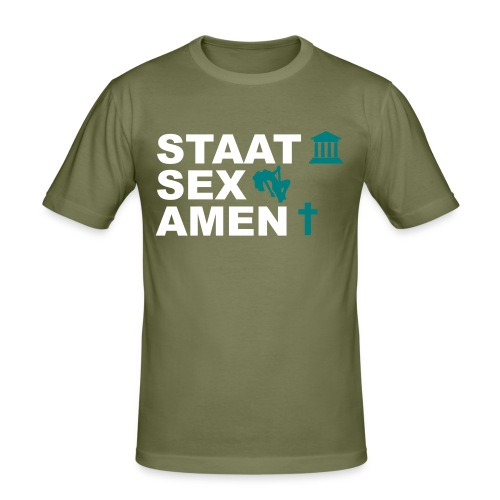 Staatsexamen / Staat Sex Amen - Männer Slim Fit T-Shirt