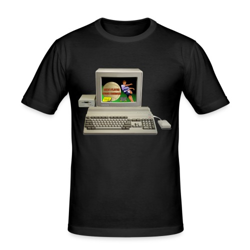 amiga500 system - Slim Fit T-skjorte for menn