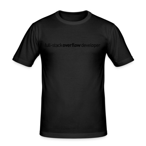 full-stack-overflow-flat - Mannen slim fit T-shirt