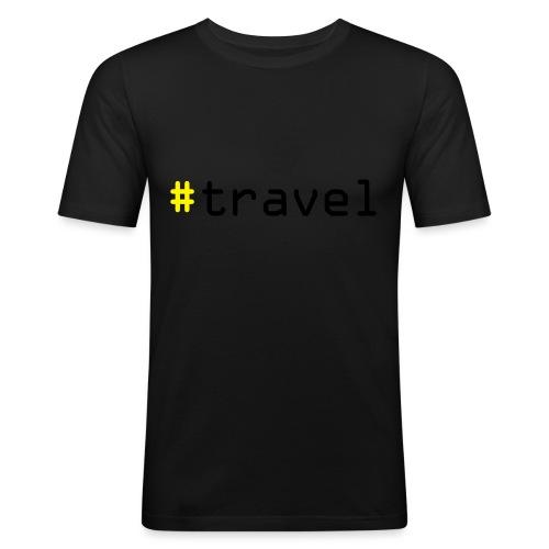 #travel - Männer Slim Fit T-Shirt