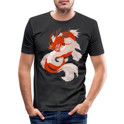 Dragon koi - Maglietta aderente da uomo
