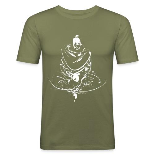 Iaido Samurai Zen Meditation - Men's Slim Fit T-Shirt