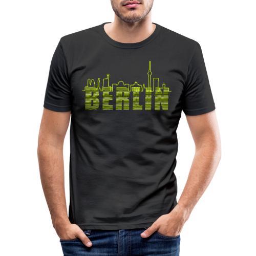 Skyline di Berlino - Maglietta aderente da uomo
