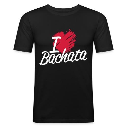 i love bachata2 - T-shirt près du corps Homme