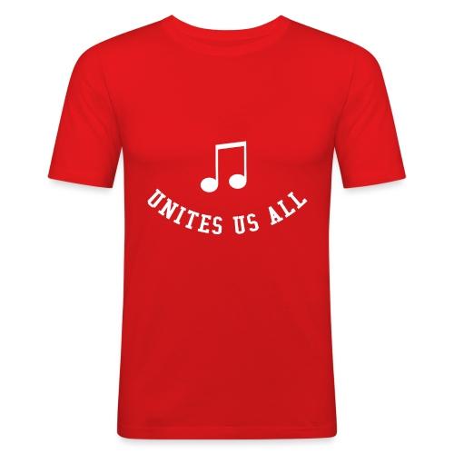 Music Unites Us All Shirt - Men's Slim Fit T-Shirt