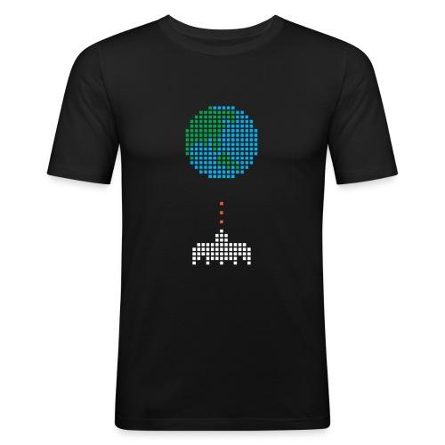 Earth Invaders - Männer Slim Fit T-Shirt