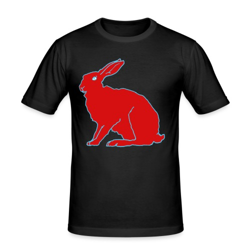 Roter Hase - Männer Slim Fit T-Shirt