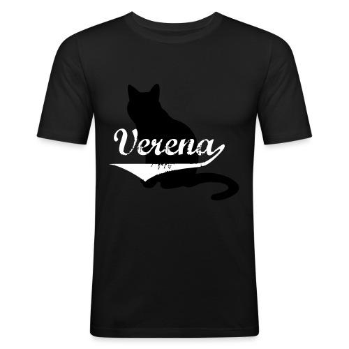 Verena Cat - Männer Slim Fit T-Shirt