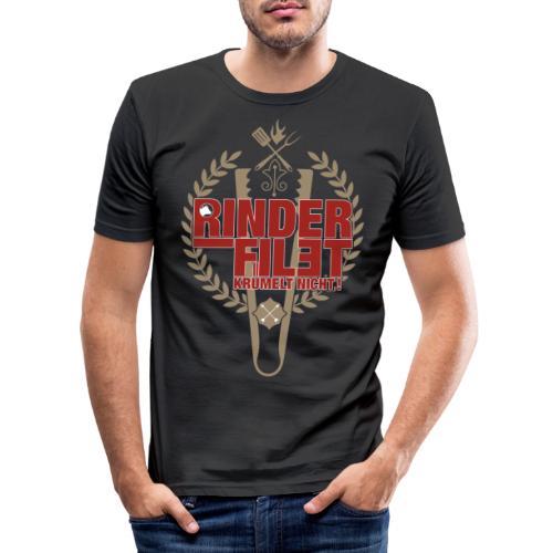 RINDERFILET KRÜMELT NICHT - Männer Slim Fit T-Shirt