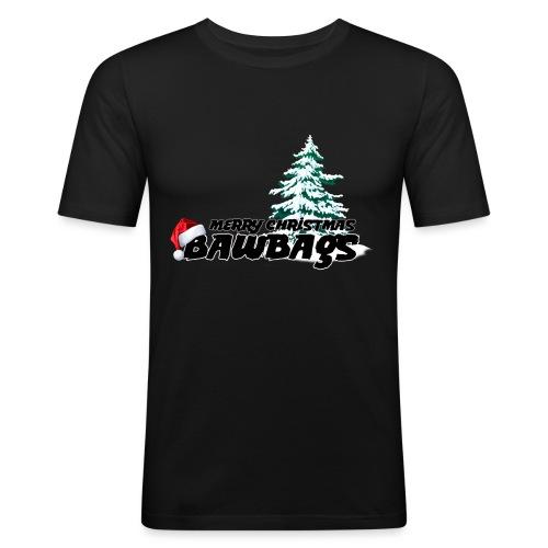 Merry Christmas Bawbags - Men's Slim Fit T-Shirt