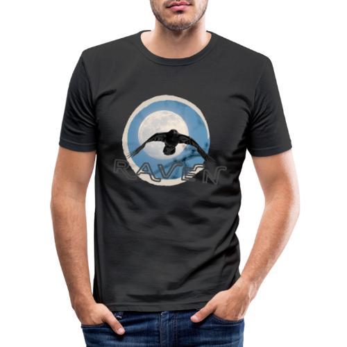 Australian Raven Full Moon - Men's Slim Fit T-Shirt