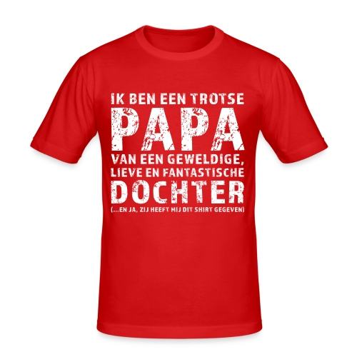 Trotse Papa - Mannen slim fit T-shirt