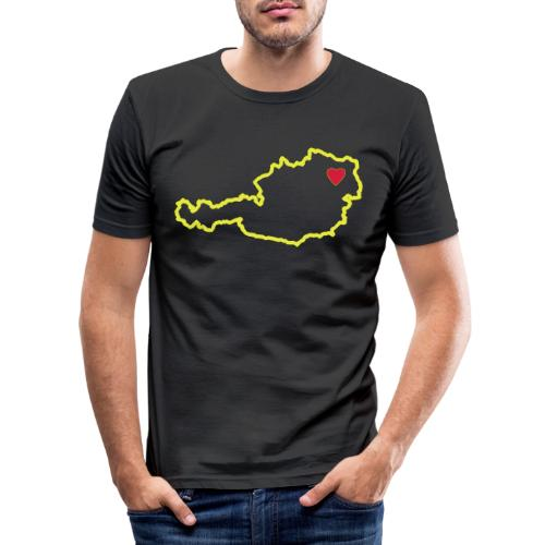 Ein Herz für Österreich - Männer Slim Fit T-Shirt