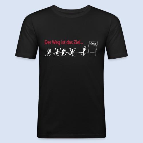 Der Weg ist das Ziel - Marathon - Männer Slim Fit T-Shirt