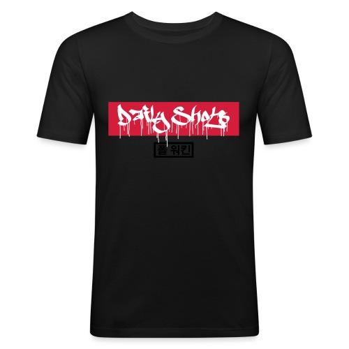 Daily Shots Tag art - Männer Slim Fit T-Shirt