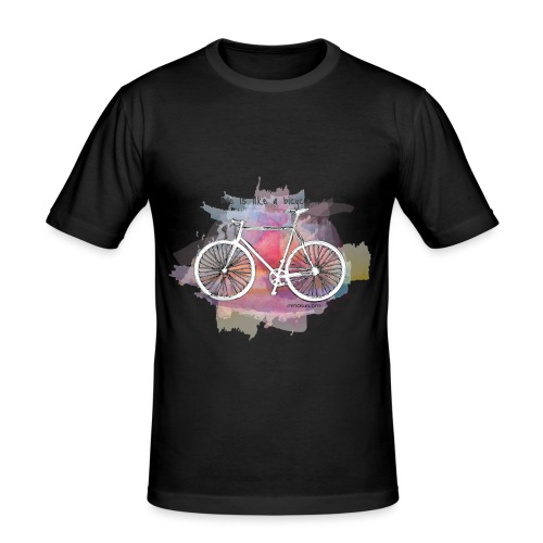 Life is like a bicycle - T-shirt près du corps Homme