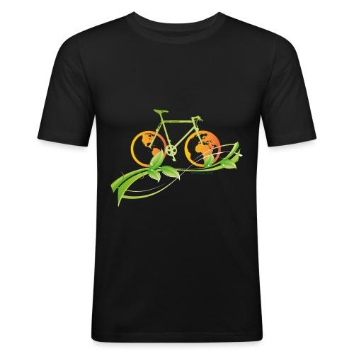 Vélo mapemonde - T-shirt près du corps Homme