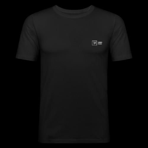 white logo transparent background png - Men's Slim Fit T-Shirt