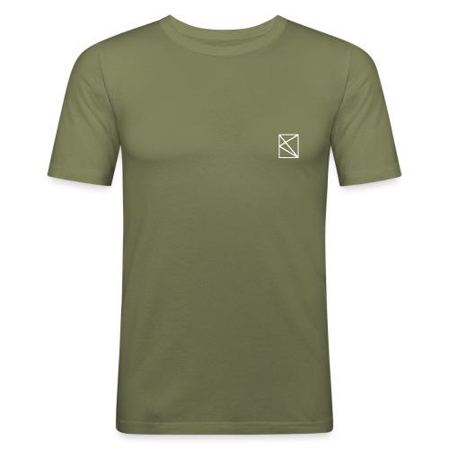 oknlogovectorblanc - T-shirt près du corps Homme