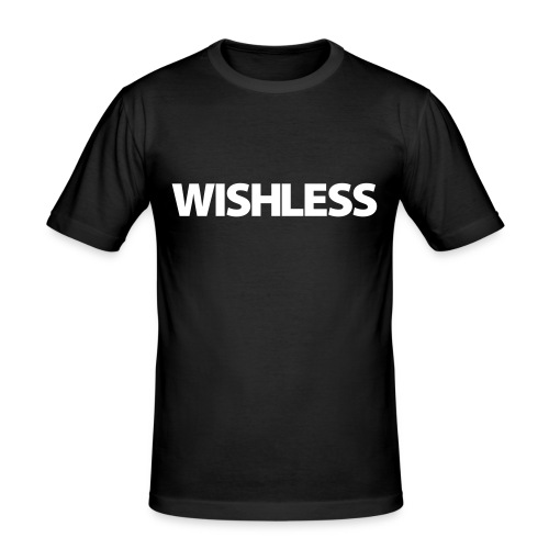 Wishless Logo - Männer Slim Fit T-Shirt