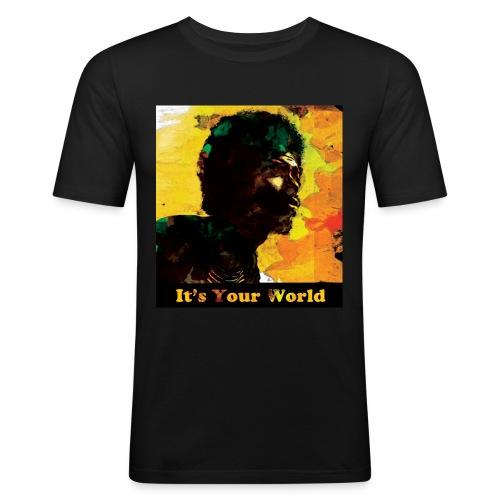 Gil Scott Heron It s Your World - Men's Slim Fit T-Shirt