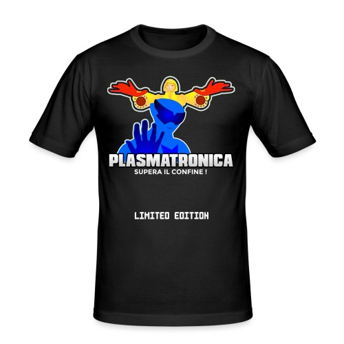 T SHIRT PLASMATRONICA LIMITED INDIEGOGO - Maglietta aderente da uomo