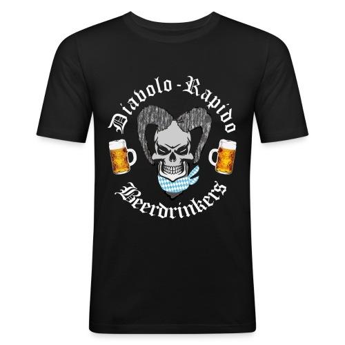 Diabolo-Rapido-Beerdrinkers - Männer Slim Fit T-Shirt