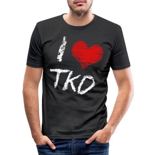 I love tkd letras blancas - Camiseta ajustada hombre