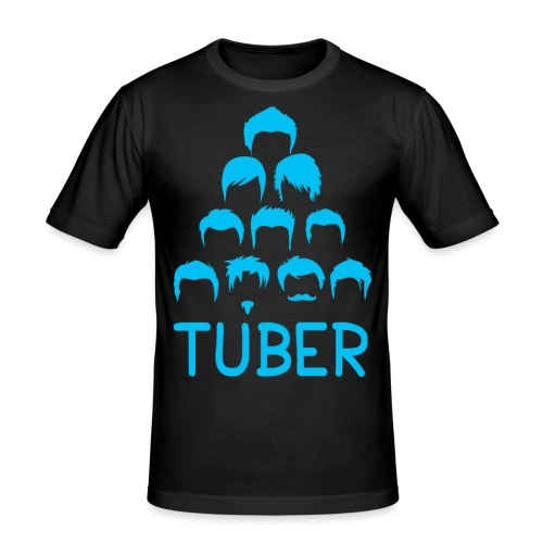 OrdinaryTuber Blue Hair - Men's Slim Fit T-Shirt