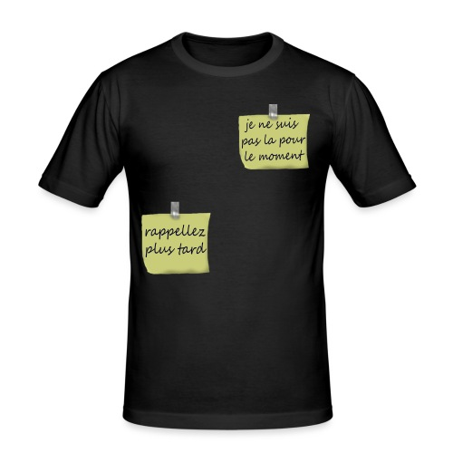 humoristique post-it - T-shirt près du corps Homme