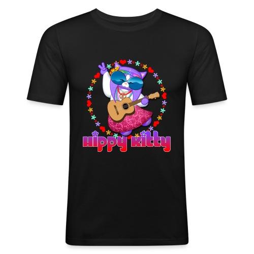 Hippy Kitty - Maglietta aderente da uomo