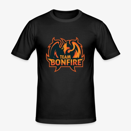 NewTeamBonfire - Männer Slim Fit T-Shirt