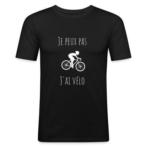 t shirt cyclisme je peux pas j'ai vélo dessin - T-shirt près du corps Homme
