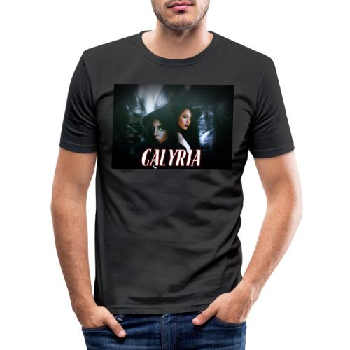 Calyria Vertikal - Männer Slim Fit T-Shirt