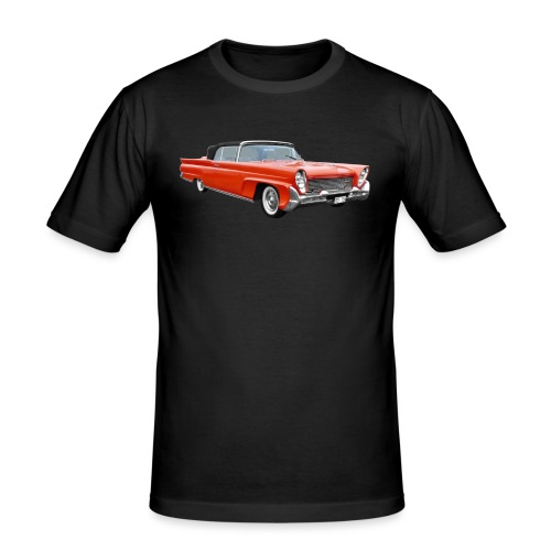 Red Classic Car - Mannen slim fit T-shirt