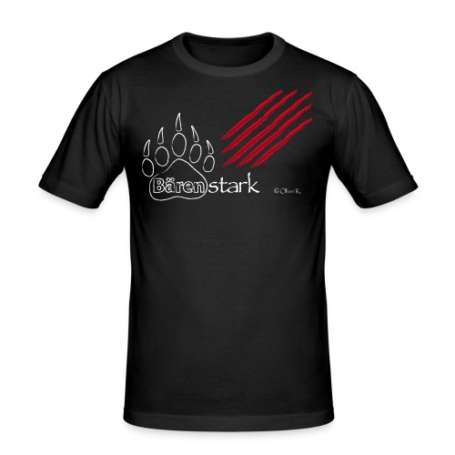 baerenstark 3d kratzspuren - Männer Slim Fit T-Shirt