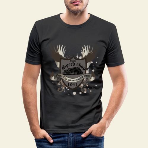 badge hotrod - Herre Slim Fit T-Shirt