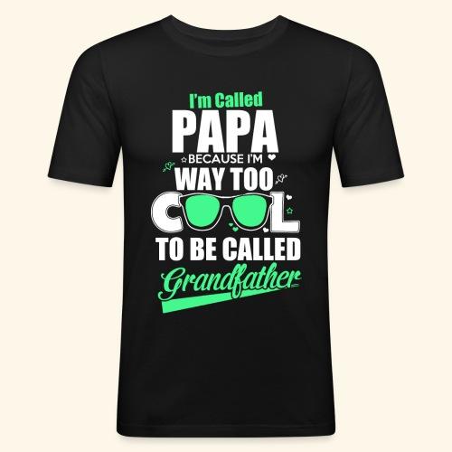 Cooles Papa Opa Grandfather T-Shirt Englisch - Männer Slim Fit T-Shirt