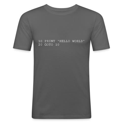 HELLO WORLD - Commodore64 BASIC - Herre Slim Fit T-Shirt