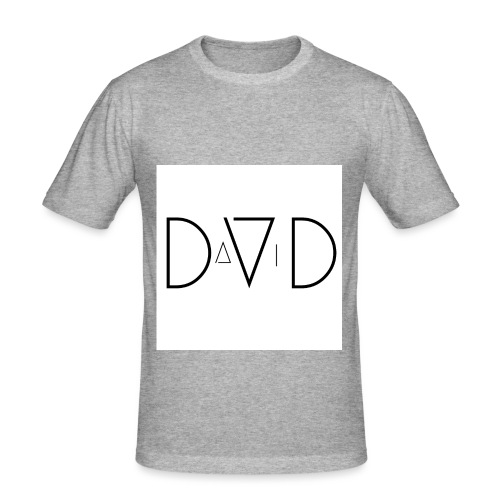 DVD DAVID jpg - Männer Slim Fit T-Shirt