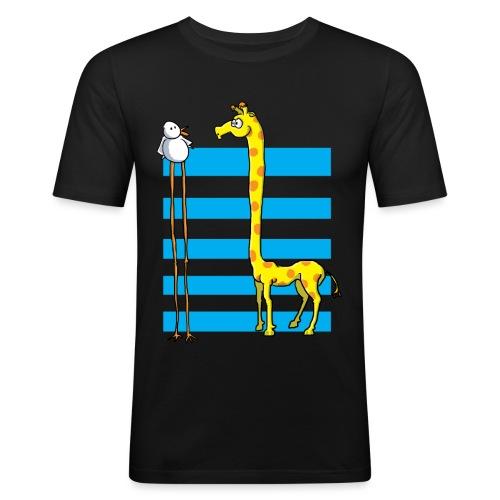 La girafe et l'échassier - T-shirt près du corps Homme