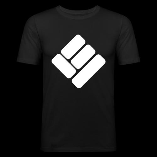 Loose Ends White - Men's Slim Fit T-Shirt