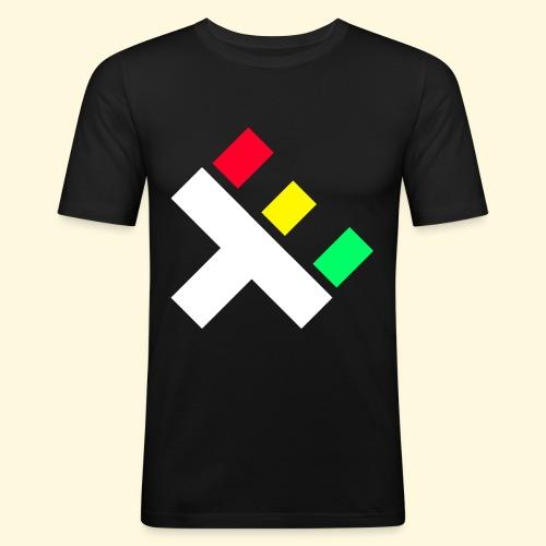 Clan Logo - Rasta - Men's Slim Fit T-Shirt