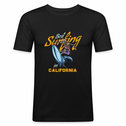 Surfing in California - Männer Slim Fit T-Shirt