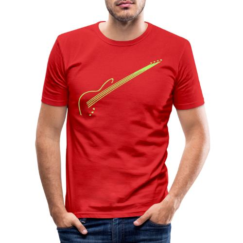 E-Bass - Männer Slim Fit T-Shirt