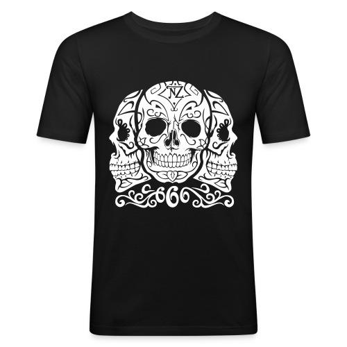 Skull Dia de los muertos - T-shirt près du corps Homme